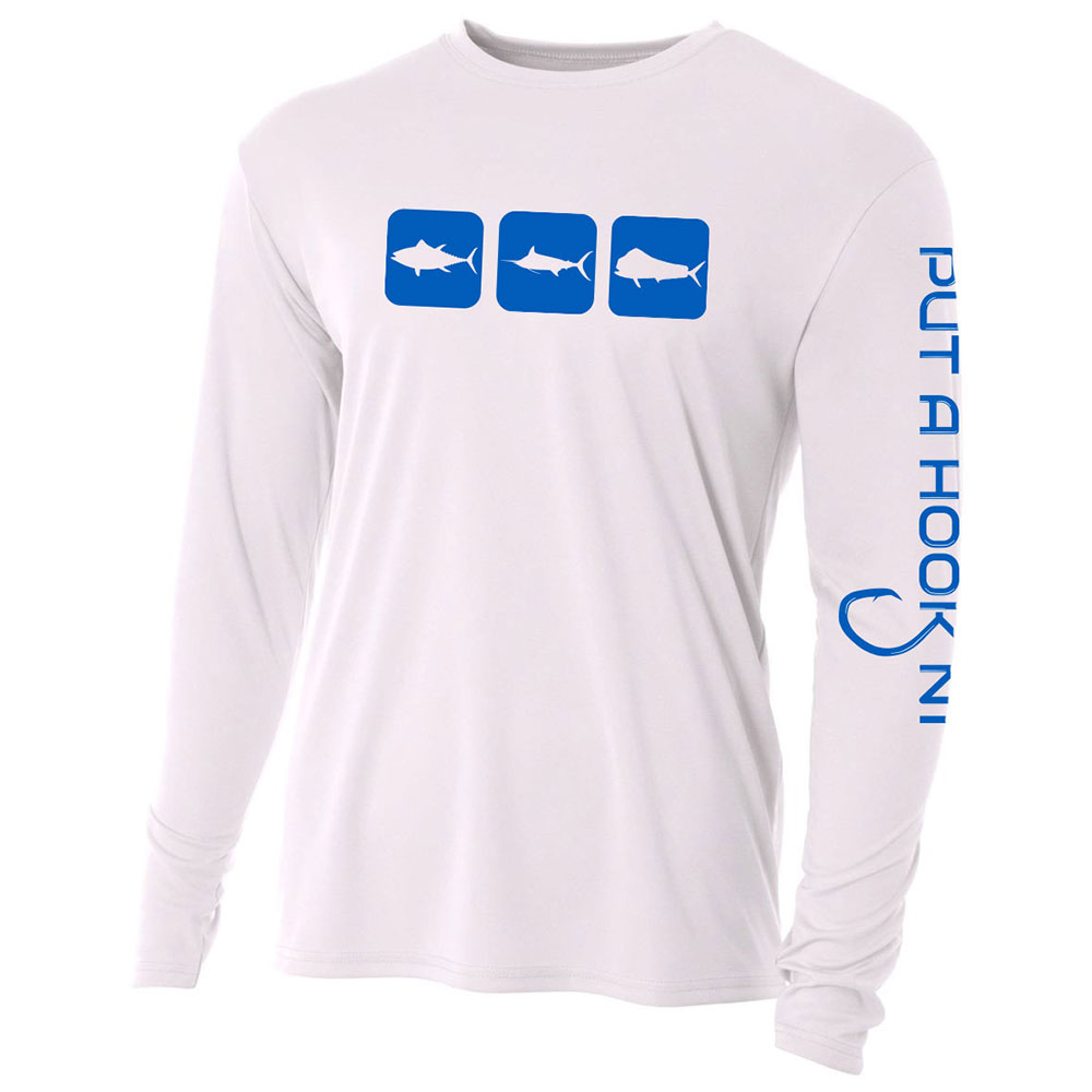offshore triblock performance shirt white